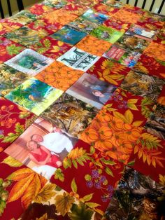 Quilted photo tablecloth!