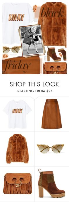 """""""Steal Those Deals: Black Friday"""" by trendyandtrend on Polyvore featuring MANGO, Prada, Marni, Fendi, J.W. Anderson and See by Chloé"""