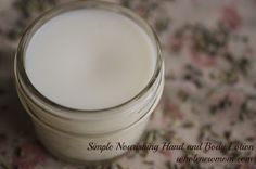 Hand and Body Hard Lotion-much healthier for your body than the chemical filled store bought kind!