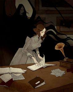 Dracula Illustrations by Abigail Larson Arte Horror, Horror Art, Dracula, Character Inspiration, Character Art, Art Sketches, Art Drawings, Abigail Larson, Gothic Artwork