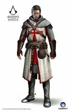 View an image titled 'Shay, Templar Armor Art' in our Assassin's Creed Rogue art gallery featuring official character designs, concept art, and promo pictures. Assassins Creed Rogue, Character Portraits, Character Art, Warrior Concept Art, Crusader Knight, Armadura Medieval, Fantasy Armor, Fantasy Figures, Knights Templar