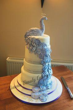 wedding cakes - peacock   Pea**** Wedding Cake — Other / Mixed Shaped Wedding Cakes
