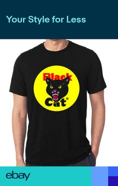 6ed17ce0b527 Black Cat Fireworks logo t-shirt all size