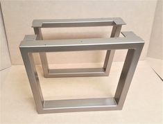 This listing is for set of 2 Trapezoid Coffee Table Tubing Legs. - Made from 3 x 1 1/2 Steel Tubing. 14 gauge (.075) wall. - Finish : Raw steel, Clear coat, Black flat, Antique Brass Metallic, Custom color. The pictures are Antique Brass Metallic finish. ***For AK and HI please ask for shipping quote. Thanks *** We can customize the height and the width. Send us your dimensions and we will give you a quote***