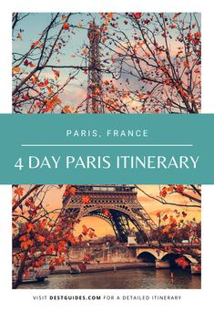 This 4 Days in Paris Itinerary is designed to pack in a lot of fun in a short amount of time. It helps you explore everything that Paris has to offer. Paris France Travel, Paris Travel Guide, Europe Travel Tips, European Travel, Travel Packing, Travel Destinations, Berlin Travel, Travel Capsule, Best Places To Travel