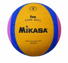 Mikasa 2012 London Olympic Water Polo Game Ball (Yellow/Blue/Pink, Size 5). Official Fina London Olympic Game Ball. Item Dimensions: weight: 93, width: 693, height: 307 hundredths-inches. Hand buffed premium rubber cover. Variation Attributes: Size (Men's). Wave tri-color design. Date of Release: 2011-11-08. Precision nylon wound carcass.