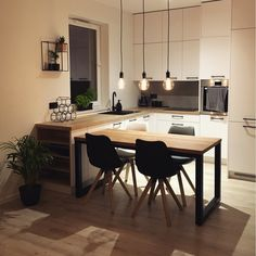 Kitchen Furniture, Kitchen Decor, Furniture Design, Loft Kitchen, Design Your Kitchen, Small Apartments, Room Inspiration, New Homes, House Design