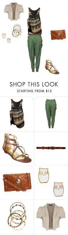 """""""Nina Style"""" by stephreys ❤ liked on Polyvore featuring Balmain, James Jeans, Nine West, CO-OP Barneys New York, American West, Vanessa Mooney and Star by Julien Macdonald"""
