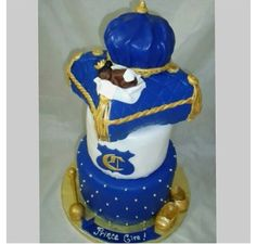Baby Boy  Crown Royal Cake