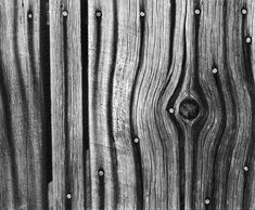 Fine Art Photography, Black and White Prints - nail stained wood