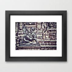 #PARIS - Latin Quarter: Place St-Michel - La Fontaine St. Michel Framed Art Print by Angel Torres - $37.00