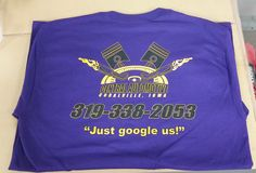 Custom Designed T-shirt and Tank top (back) for Central Automotive.