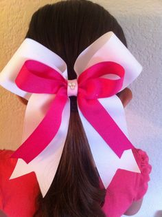 Cheer Bow with Tails - like the proportions of the two ribbons.