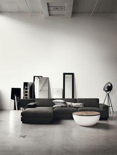 Industrial Scandinavian Living Room - Black and Silver Living Room Ideas