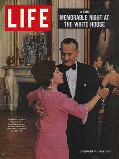 """Life"" Magazine Cover ~ Pres. Lyndon B. Johnson dancing with Princess Margaret ~ Dec 3, 1965"