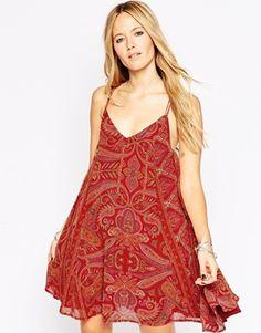 ASOS Swing Dress in Bright Bohemian Paisley
