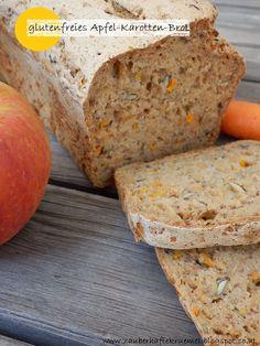 Zauberhafte Krümel: [Rezepte]: einfaches, sehr saftiges und glutenfreies Apfel-Karotten-Brot ohne Gehzeit