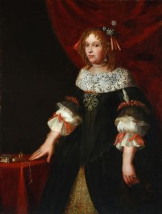 Maria Anna van Berchem, Countess of Crykenborch by anonymous, 17th century the Netherlands, the Bowes Museum