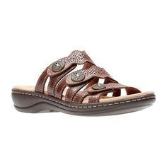 2e061497f81f Clarks Womens Leisa Grace Slide Sandals
