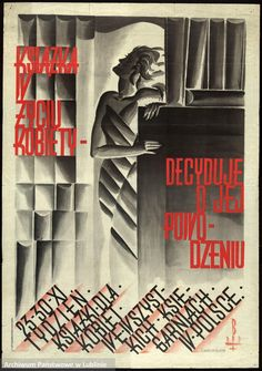 Książka w życiu kobiety decyduje o jej powodzeniu. #polskiplakat