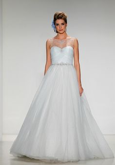 Gown by Disney Fairy Tale Weddings By Alfred Angelo.Check out more gorgeous dresses in our wedding gown gallery ► Disney Inspired Wedding, Disney Wedding Dresses, Cinderella Wedding, Cinderella Dresses, Blue Wedding Dresses, Disney Dresses, Princess Wedding Dresses, Wedding Gowns, Cinderella Disney