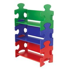 Kidkraft Puzzle Book Shelf - Primary  Reviews are phenomenal - this bookcase is PERFECT for playroom or Gavin's bedroom!  I love, love, LOVE!  I'll want to get 2, so I'm going to try to get a deal of some sort.  Perfect though!