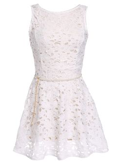 Lace Homecoming Dresses,Short Sleeveless Homecoming Dresses,Simple A-line Scoop…