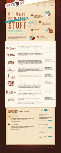 Nice for a resume website / Webdesign