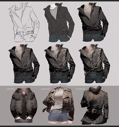 taken from May 2017 tutorial reward Full version (up to + Step by Step videos ('Drawing and Painting Leather Jacket' total duration: Drawing Leather Jacket Digital Painting Tutorials, Digital Art Tutorial, Painting Tools, Art Tutorials, Clothes Draw, Drawing Clothes, Art Reference Poses, Drawing Reference, Hand Reference