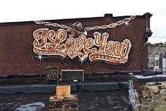 urbanartbomb #graffiti #bombing #graff #streetart - http://urbanartbomb.com/ll-i-love-you1/ -  - Urban Art Bomb