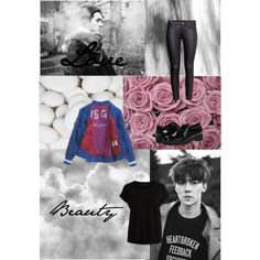SeHun Call Me Baby by montanalegare on Polyvore featuring polyvore, fashion, style, VILA, H&M, La Canadienne and MSGM
