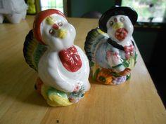 Anthropomorphic TurkeySalt & Pepper Shakers
