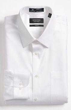 Nordstrom Men's Shop Smartcare™ Trim Fit Twill Dress Shirt