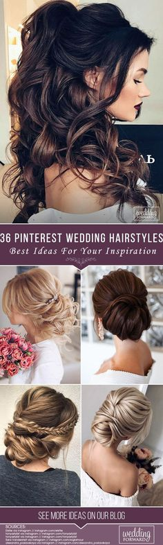 Look for the best wedding hairstyle in one place! #wedding