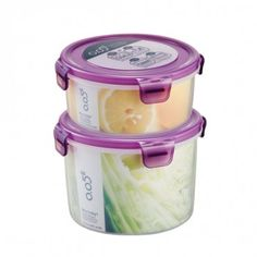 Airtight food containers with color lids!