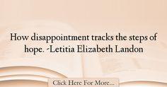 Letitia Elizabeth Landon Quotes About Hope - 35890