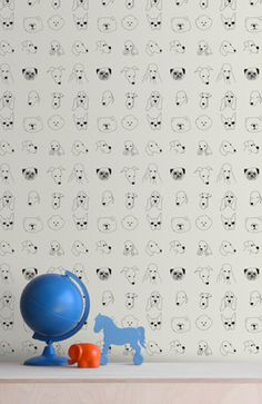 cute pooches pattern - dog breeds wallpaper