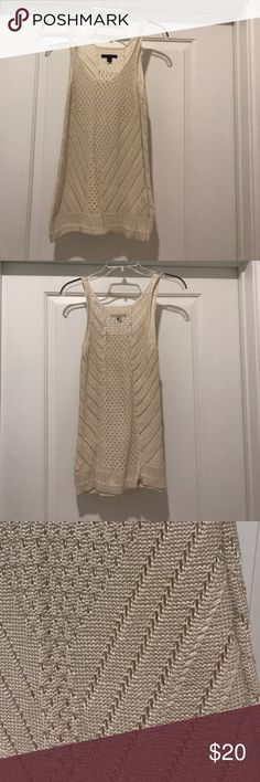 Cream knitted tank top Cream knitted tank top, perfect for a summer cover up or even throw a tank under it for a daytime look! Never worn! Tops Tank Tops