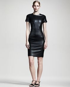 SECOND SKIN - no closet's complete without a leather dress. This one's from The Row.