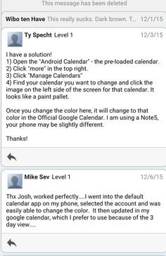 Change Color of Non-Google Calendars on Android Phone