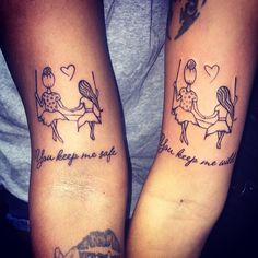 "6,805 Likes, 147 Comments - Jon Parks (@chppdxscrwd) on Instagram: ""You keep me #safe You keep me #wild #Matching #Tattoo #MatchingTattoos #Sisters #SisterTattoos…"""