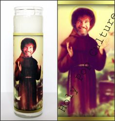 Saint Bob Prayer Candle // Ross // Funny by HolyPopCulture on Etsy