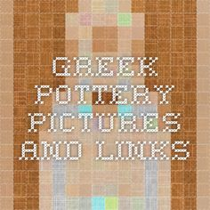 Greek pottery pictures and links