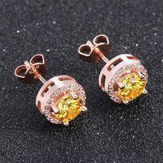 0.75ct Cubic Zirconia Crystal Stud Earrings By Effie Queen
