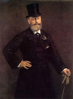 """Portrait of Antonin Proust"" (1880), by French artist - Edouard Manet (1832-1883), Oil on canvas, 129.5 x 95.9 cm. (50 3/4 x 37 3/4 in.), Toledo Museum of Art - Toledo, Ohio, USA."