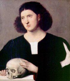 Portrait-of-a-Young-Man-with-a-Skull-xx-Bernardino-Licinio.JPG (500×584)