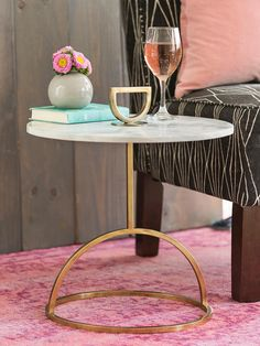 Small Space Finds: Kirkland's Steel Frame Marble Accent Table
