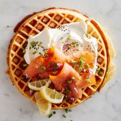 Waffles with Smoked Salmon and Crème Fraîche | Williams Sonoma Taste