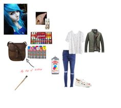 Graffiti artist elf~ Jessie by themastersucks on Polyvore featuring polyvore, WithChic, Kat Maconie, DUBARRY, Moschino, fashion, style and clothing