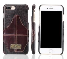 iPhone X Leather Back Cover Business Style Phone Case Coques for iPhone X Fundas Brown